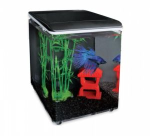 SuperFish HOME 8 AQUARIUM BLACK zestaw akwariowy